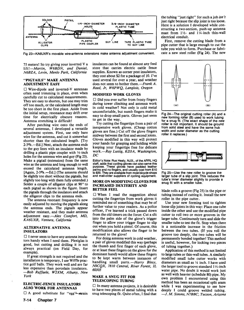Hints And Kinks For The Radio Amateur Pdf Wiring Harness Alligator Fence