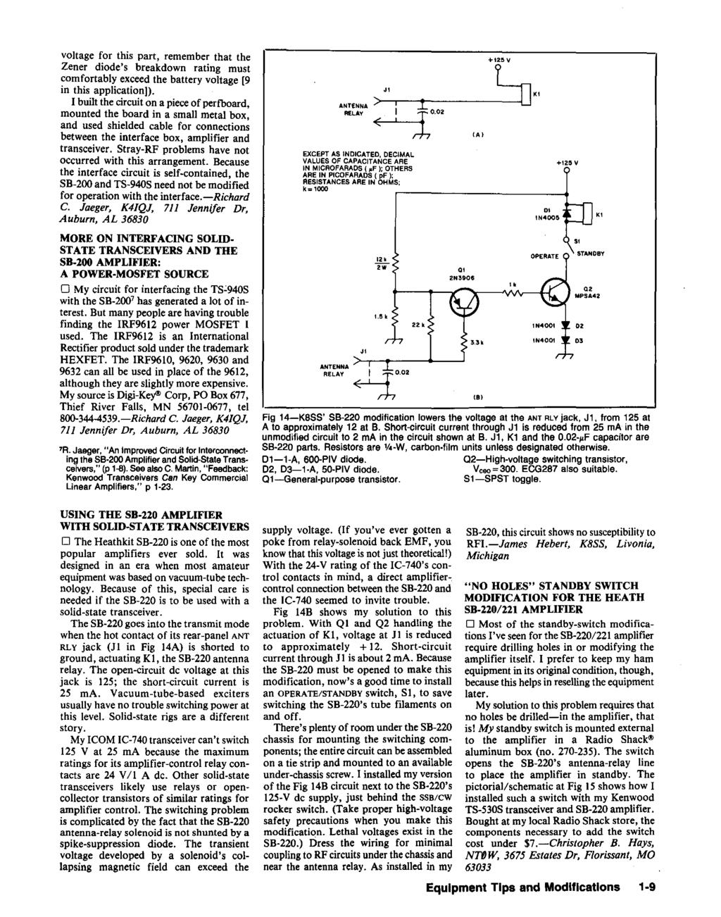 Hints And Kinks For The Radio Amateur Pdf Lm386 As Multipurpose Circuit Diagram Audiocircuit Voltage This Part Remember That Zener Diodes Breakdown Rating Must Comfortably Exceed