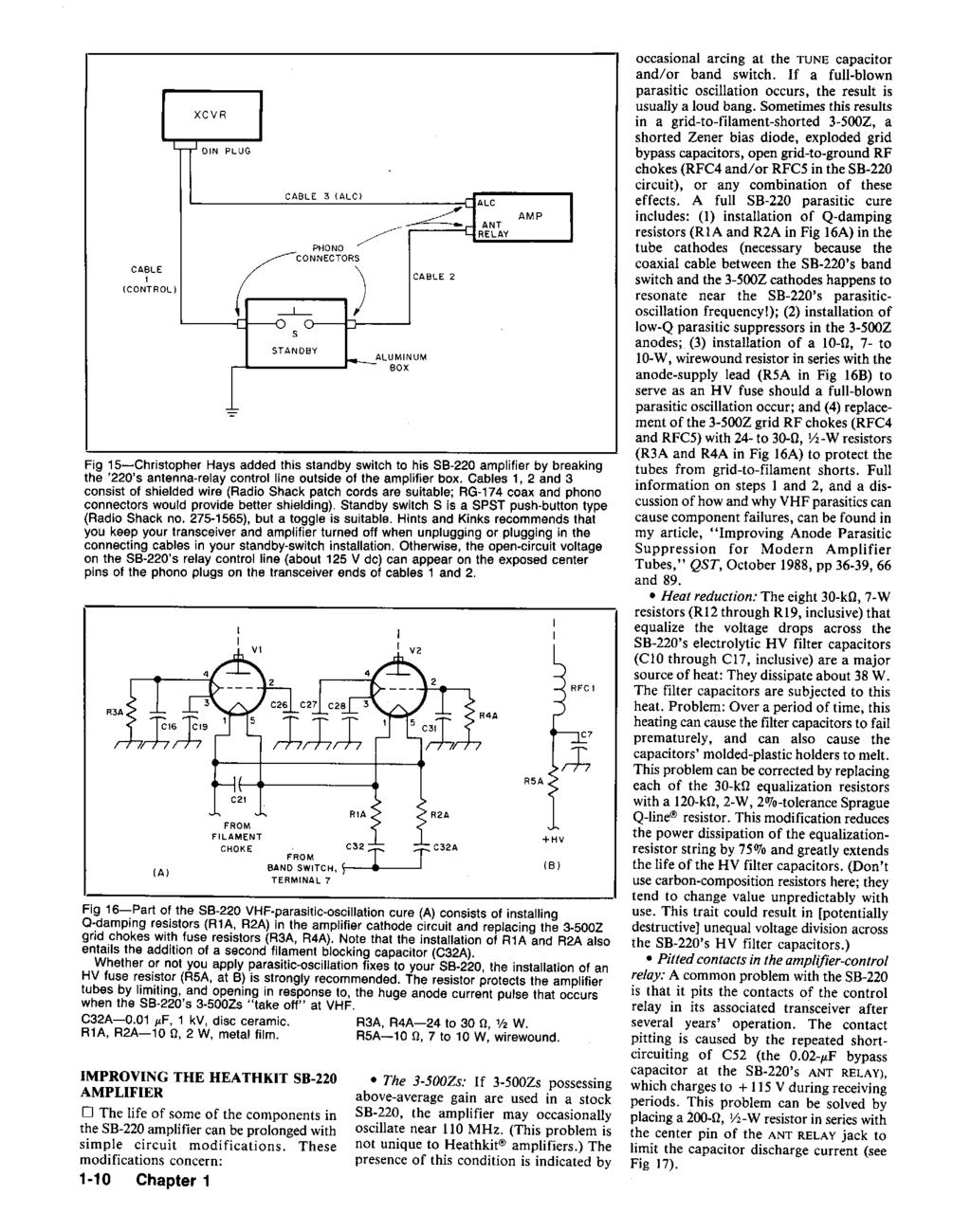 Hints And Kinks For The Radio Amateur Pdf Wire Connector Plug Motorcycle Car Marine 10cm Wirein Wiring Harness Fig 15 Christopher Hays Added This Standby Switch To His 88 220 Amplifier By