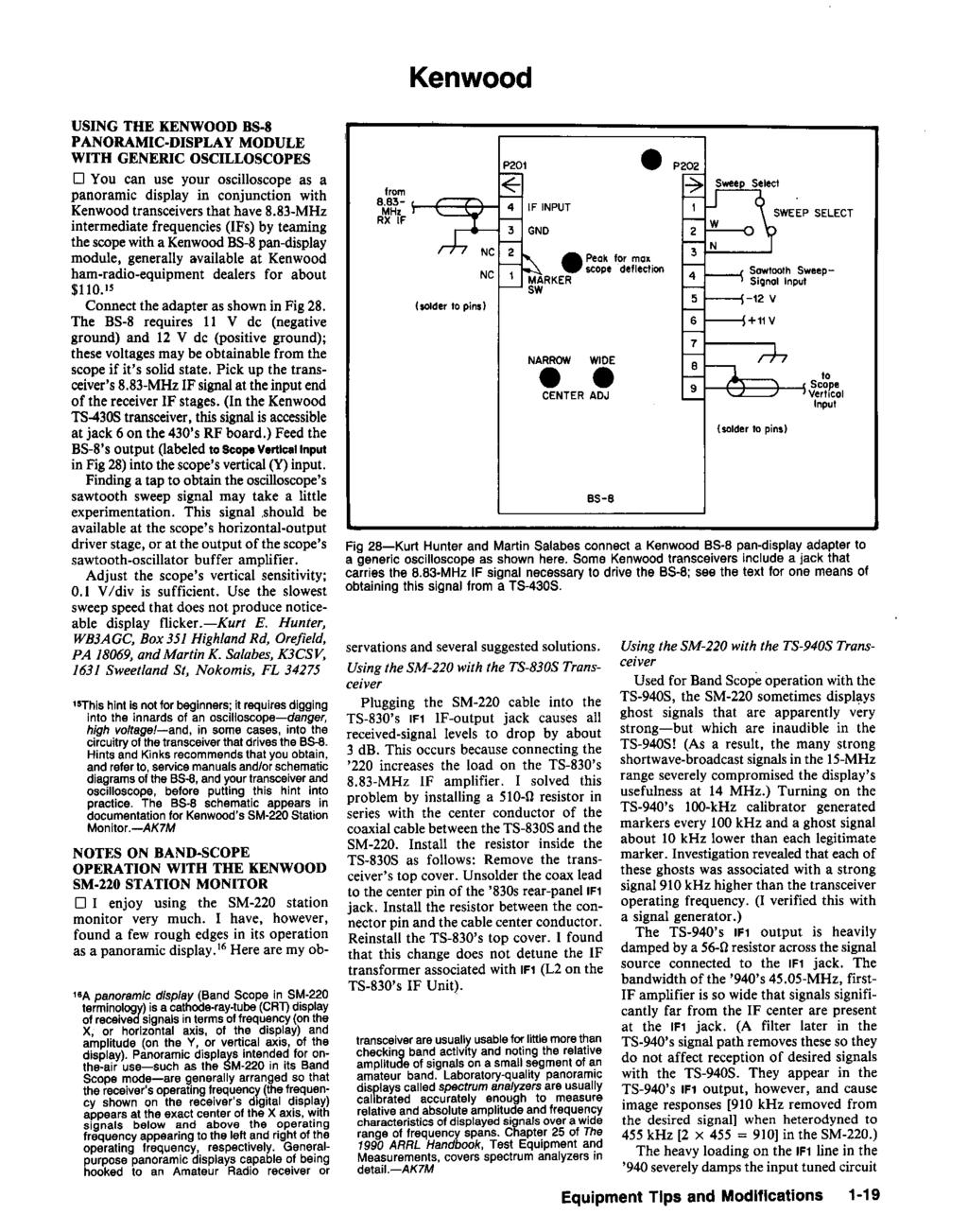 Hints And Kinks For The Radio Amateur Pdf Free Download Tda7294 Ic Second Voice Recorder Module Service Manual Schematics Datasheets Eeprom Bins Pcb Kenwood Usng Bs 8 Panoramc Dsplay Wth Generc Osclloscopes D You
