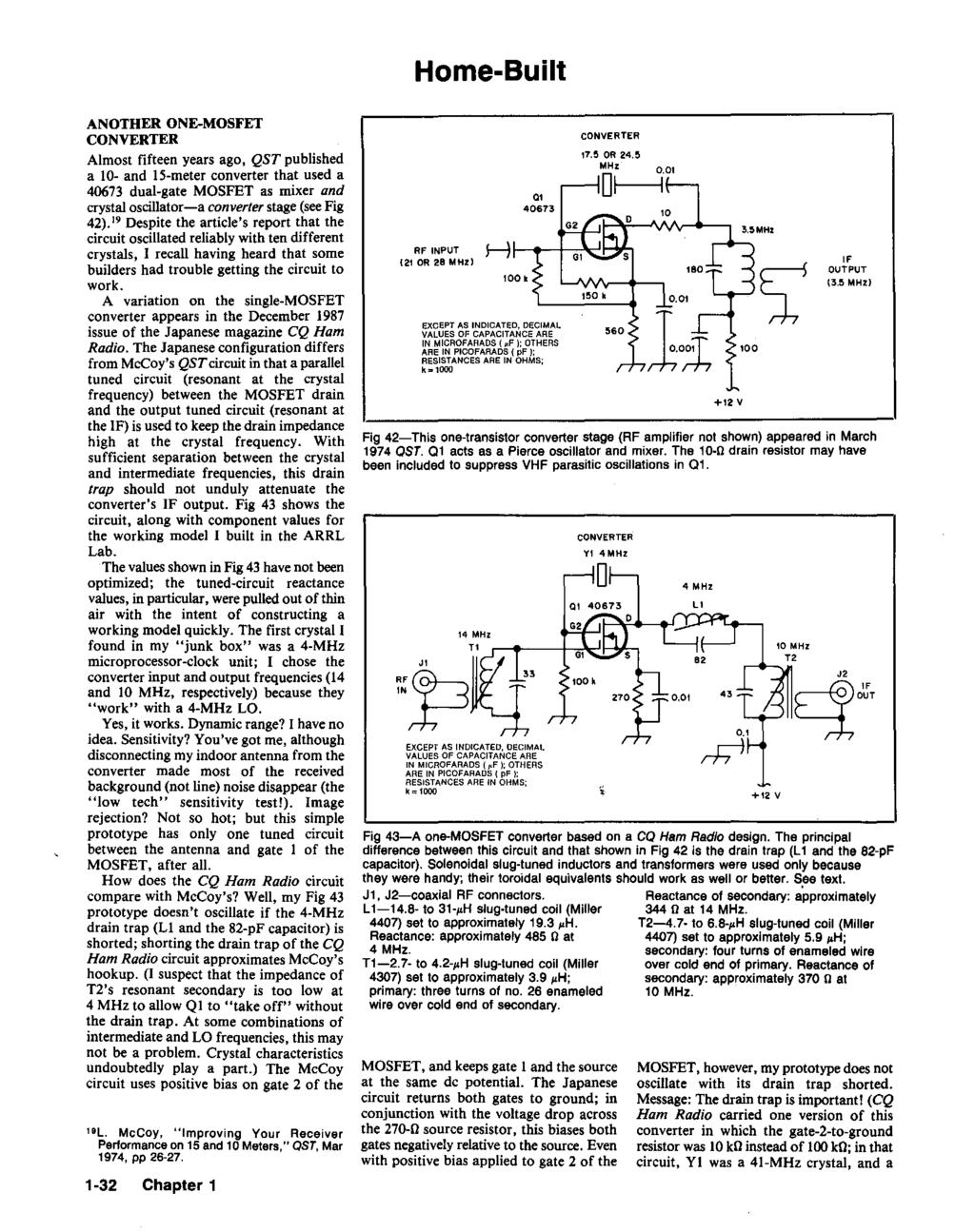 Hints And Kinks For The Radio Amateur Pdf Lm386 As Multipurpose Circuit Diagram Audiocircuit Home Built Another One Mosfet Converter Almost Fifteen Years Ago Qst Published A