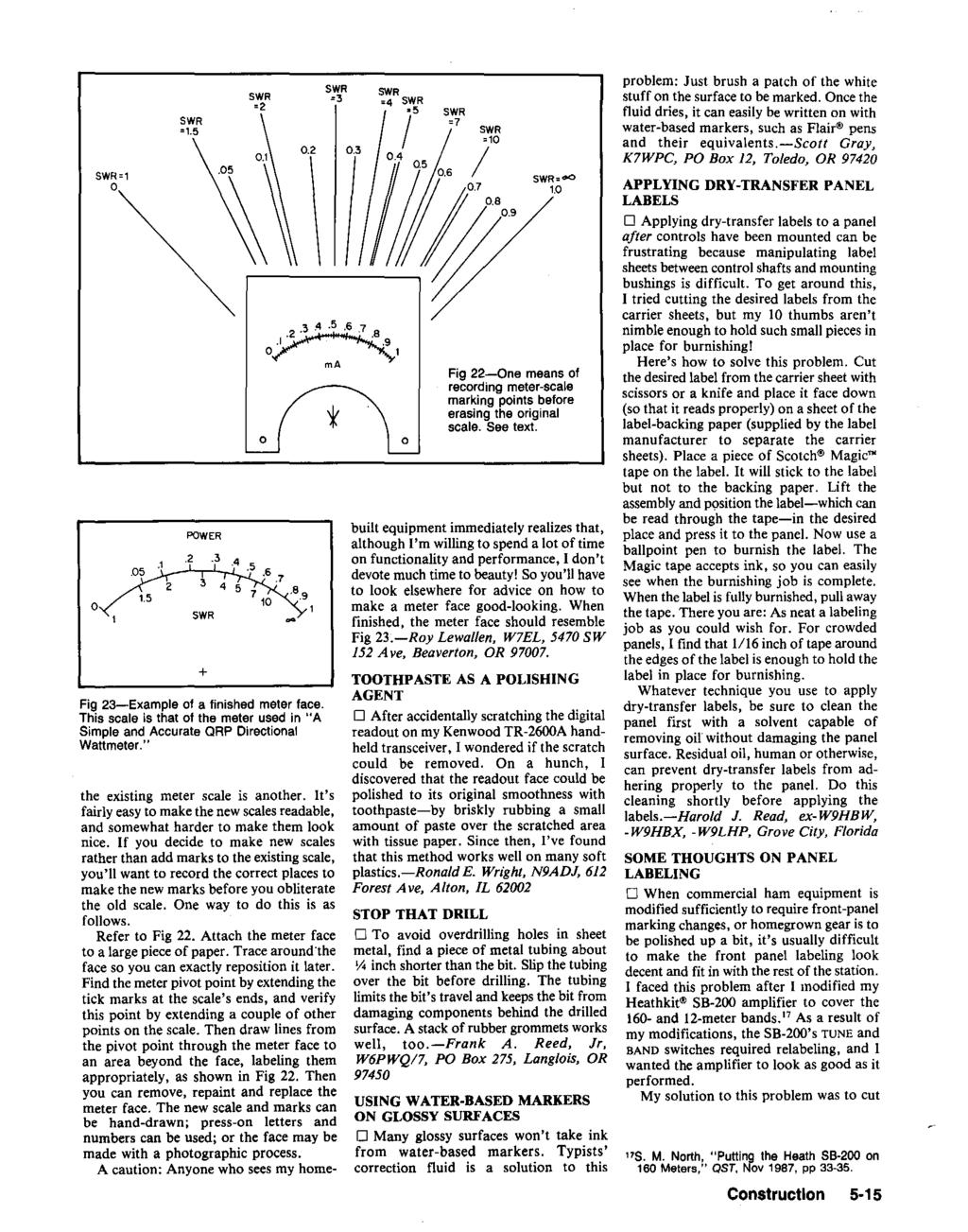 Hints And Kinks For The Radio Amateur Pdf Single Transistor Amplifier Revisited Part 4 Av Amp Rin Vs Vce Swr 3 2 5 7