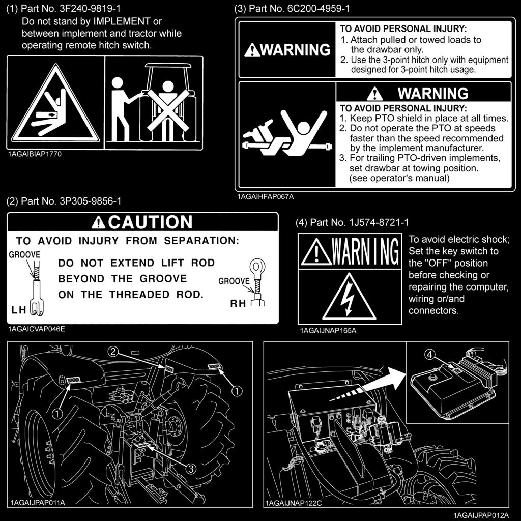Operators Manual Read And Save This Printed In Japan M126gx Thread A C Not Working Coolant Module Pinout Diagram 1999 20 Sri Replace Damaged Or Missing Danger Warning Caution Labels With New From Your Local