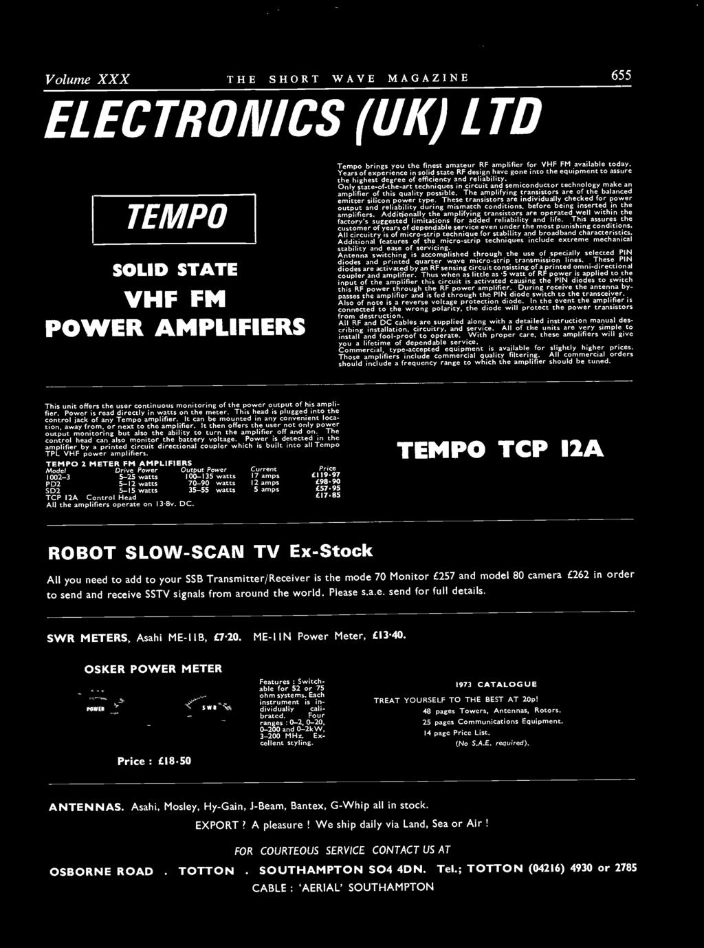 Vol Xxx January 1973 Number 11 Pdf Carling Hazard Switch Page 2 Land Rover Zone Additionally The Amplifying Transistors Are Operated Well Within Factorys Suggested Limitations For Added Reliability And