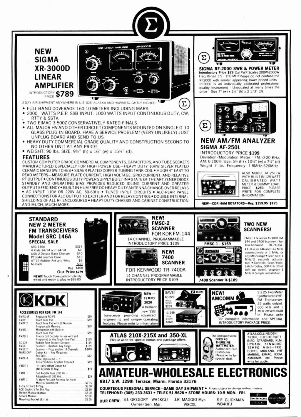 Radio September 1977 Frequency Synthesizer 44 Pi Network Design Meters Scanners Circuit Breaker Finders Sperry Finder 3 5 110 Mtiiplease Do Not Confuse The Rf2000 W