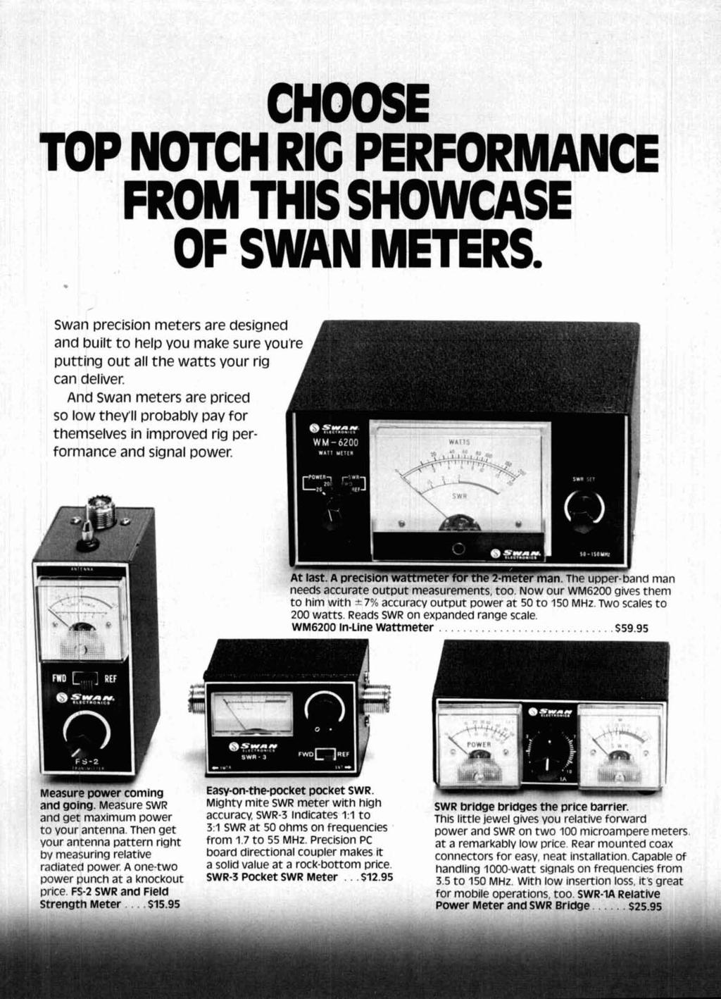 Radio September 1977 Frequency Synthesizer 44 Pi Network Design The R11 On My Interface Charger Board Is Smoking Hot And Turning Choose Top Notch Rg Performance From Ths Showcase Of Swan Meters Precision