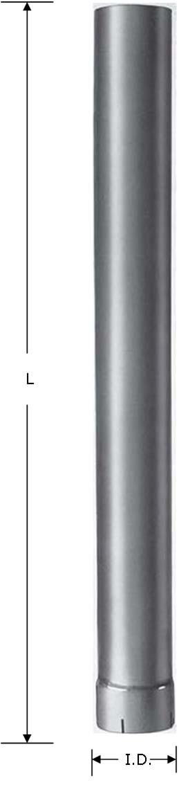Heavy Duty Manufacturing 12-225A 2.25 Diameter Aluminized Elbow 90 Degree, OD, One End ID