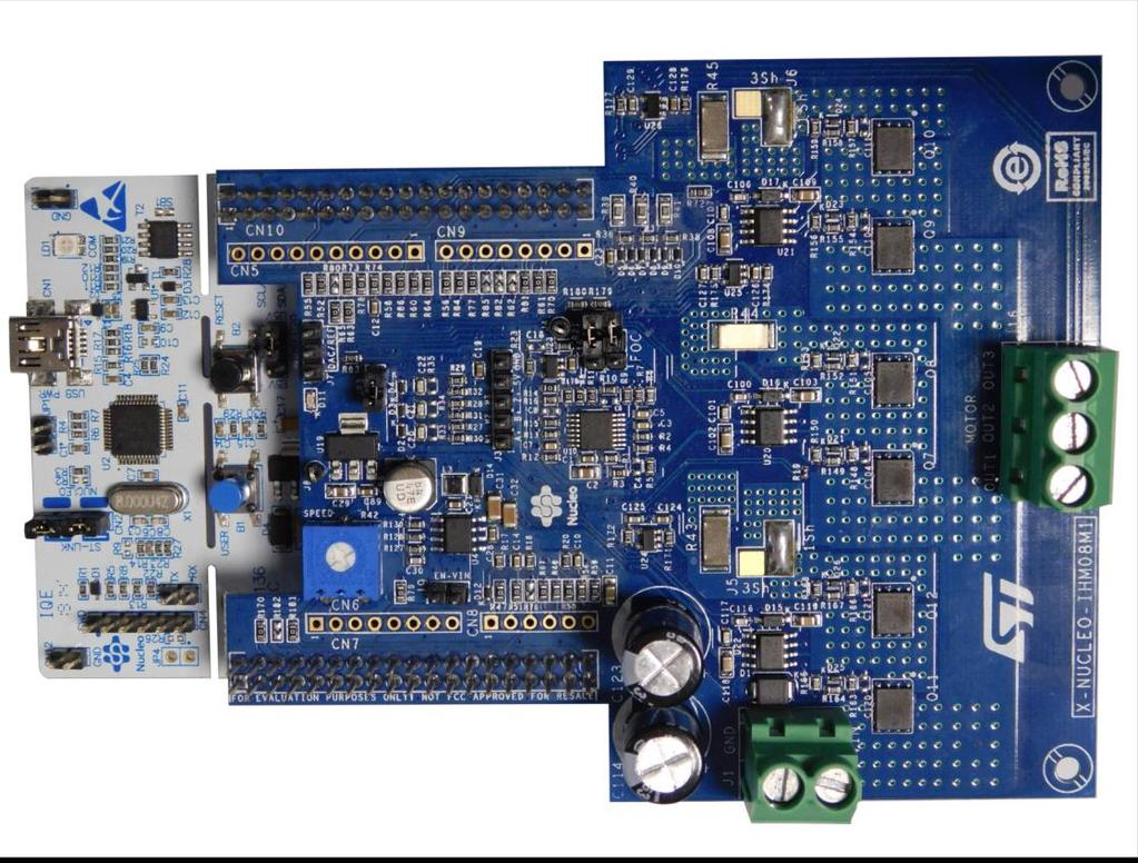 Getting started with X-NUCLEO-IHM08M1 low-voltage BLDC motor driver