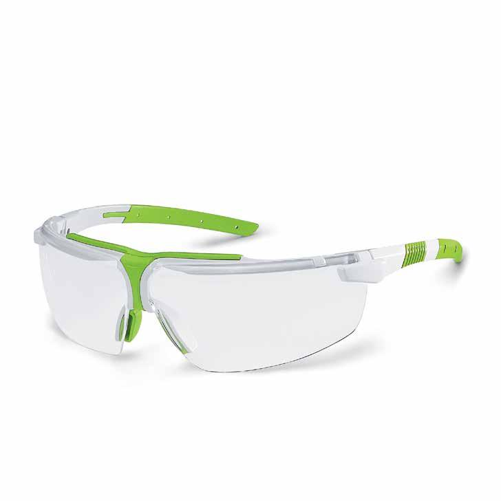 Wraparound safety glasses clear polycarbonate frame//lens 10x Safety overspecs Economical visitor spec fits over most personal prescription eyewear.