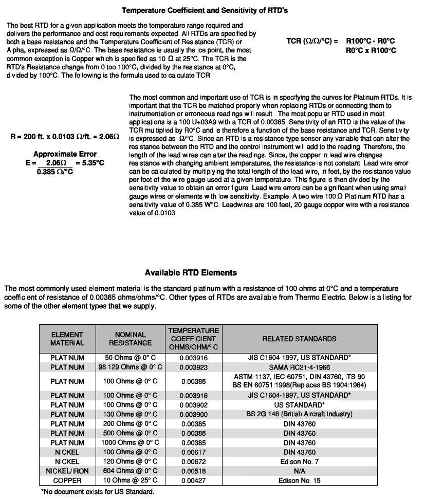 ... STT 800 User Manual Rev. 1. 3. Tables and Charts 3.3. RTD Tables and Charts RTD Circuitry Rev.