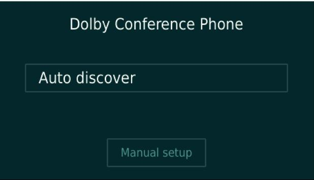 Configuring the Dolby Conference Phone 3 0 x for BT MeetMe