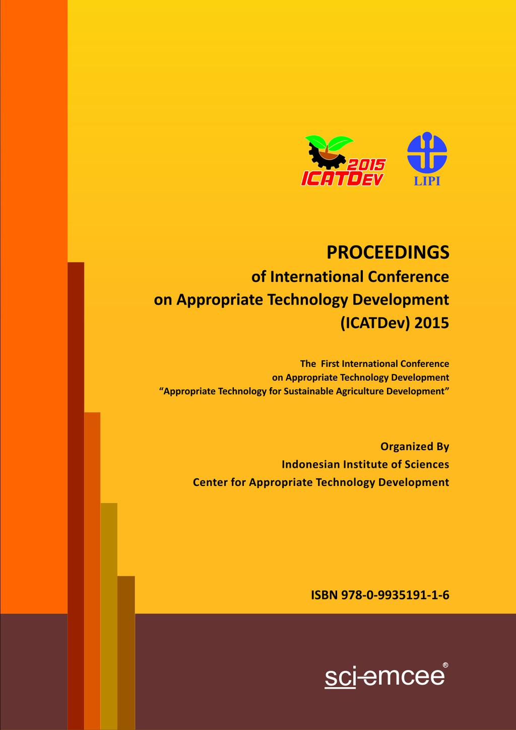 Proceedings Of International Conference On Appropriate Technology Kuliner  Pisang By Minar Production Bdg Transcription