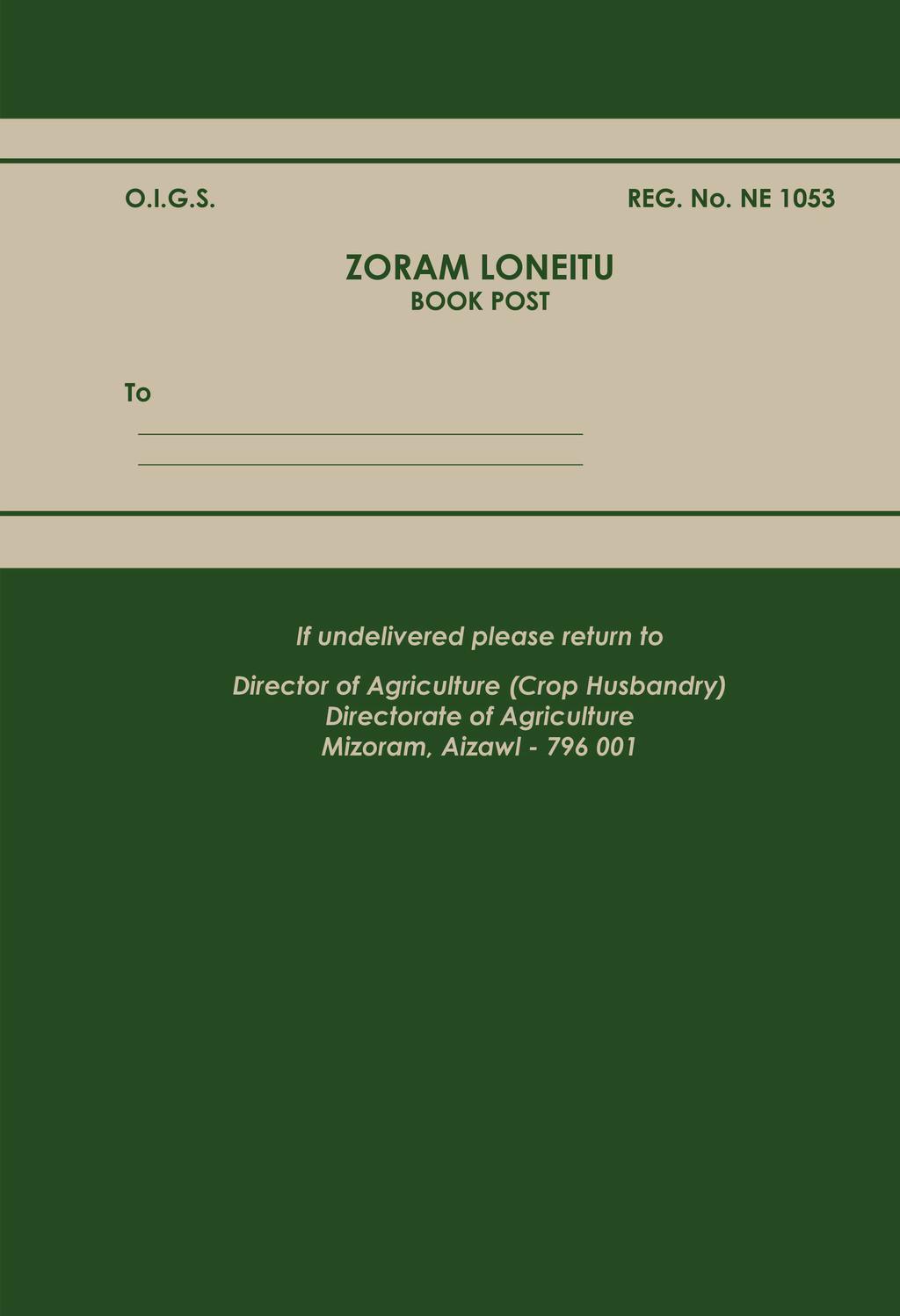 ZORAM LONEITU Volume 59 No  4 : January - June, General
