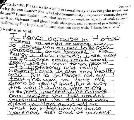 Theme For English B Essay Ballet Dance Moves Which Are Performed One Way With All Other Ways Being  Wrong She Persuasive Essay Topics For High School Students also Essay Thesis Statement Example Embodying Rhythm Nation Multimodal Hip Hop Dance As A Site For  What Is A Thesis Statement For An Essay