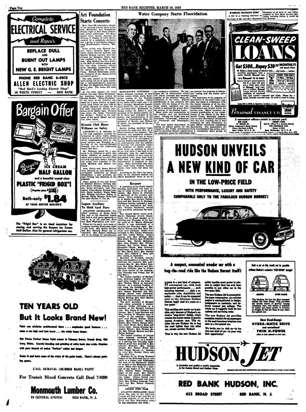 Red Bank Register Church Officers Installed Rv Wtutr W Felqner Glove Compartment Wiring Diagram For 1953 Studebaker Champion And Commander Pace Ten March 19