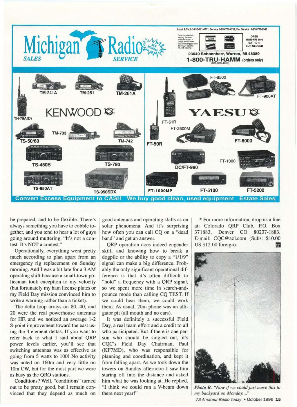 Qrp Low Power Fun Including Ham Radio October 1996 Issue 433 Kenwood Surround Sound Vr 60rs Wiring Diagram I Ll