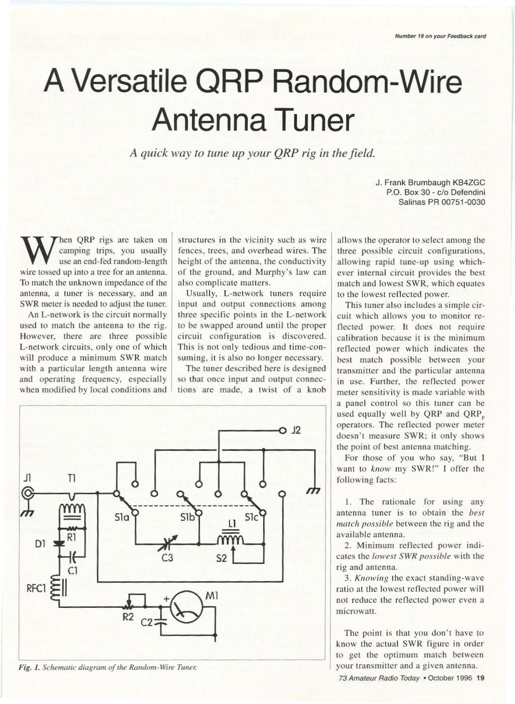 Qrp Low Power Fun Including Ham Radio October 1996 Issue 433 10113 Painless Fuse Box Iwmbe1 9 Onour Fflfhjbat Tjlrd A Versatile