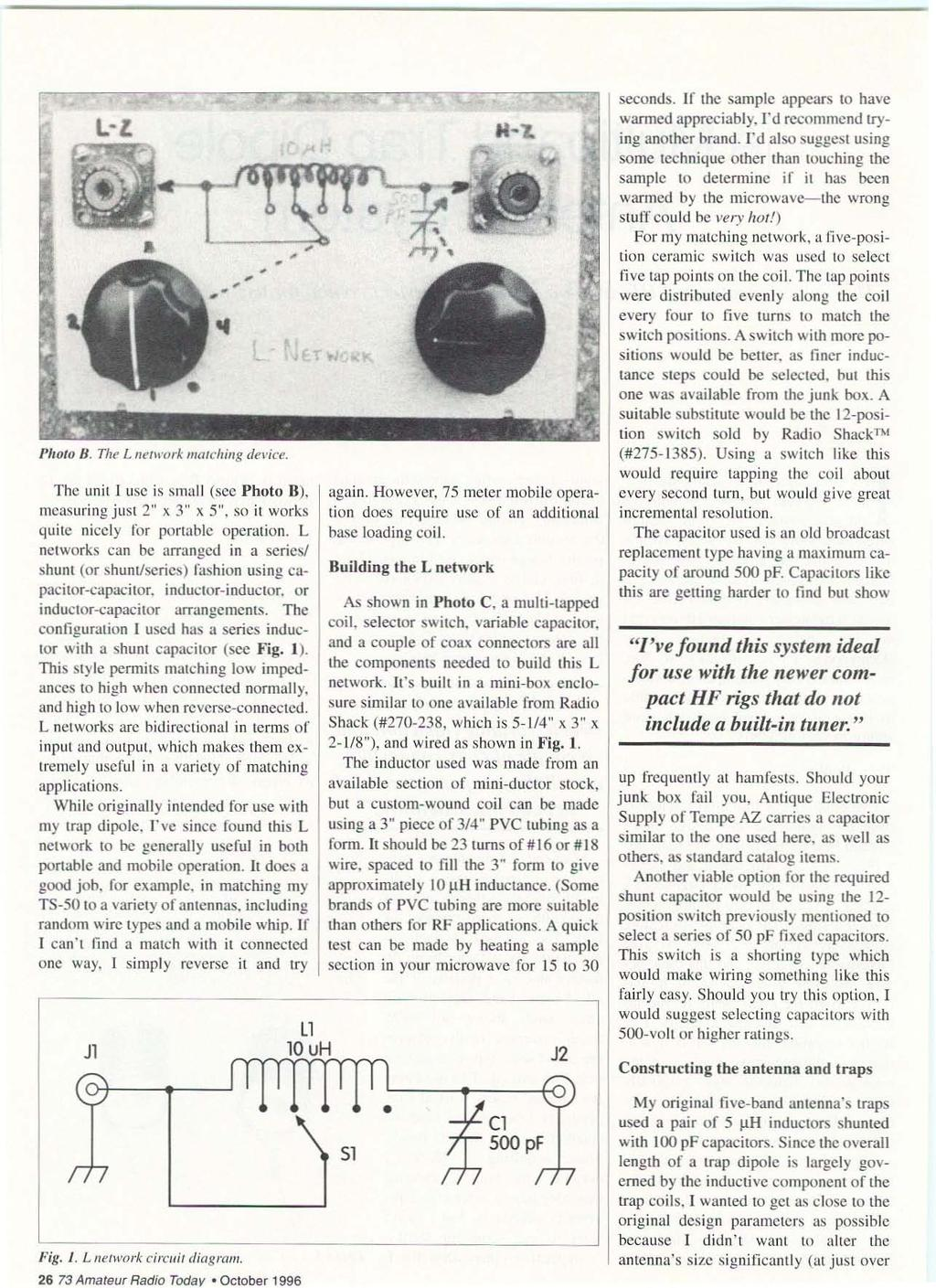 Qrp Low Power Fun Including Ham Radio October 1996 Issue 433 Circuit Trainer For Professionals Logic Gate Trainerii Jl L Z Of Photo I The