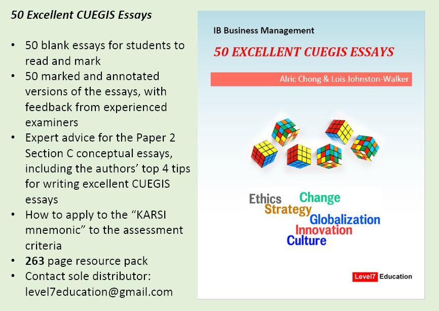 excellent cuegis essays  pdf  ib  ib business management  excellent cuegis essays