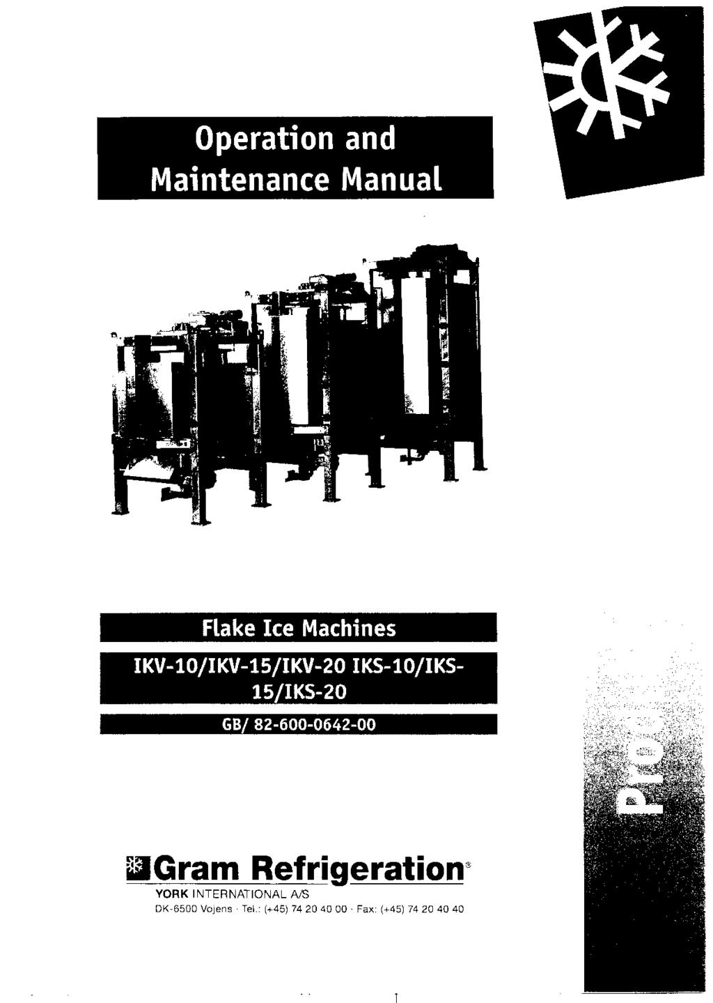 Operation And Maintenance Manual Pdf Motorguide Mg 28 Wiring Diagram Flake Ice Machines Ikv I0 5