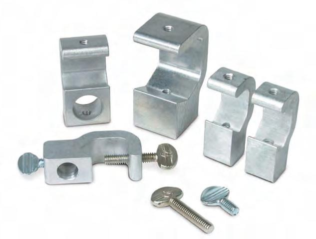 Soft Handle No-Mar Screw Comes with Large No Hole in Base 1//4-20 Screw Holes in Jaw Jaw Accepts Up to 1-1//4 Humboldt H-7425 Large RodMuff Clamp 32 mm Diameter Rods