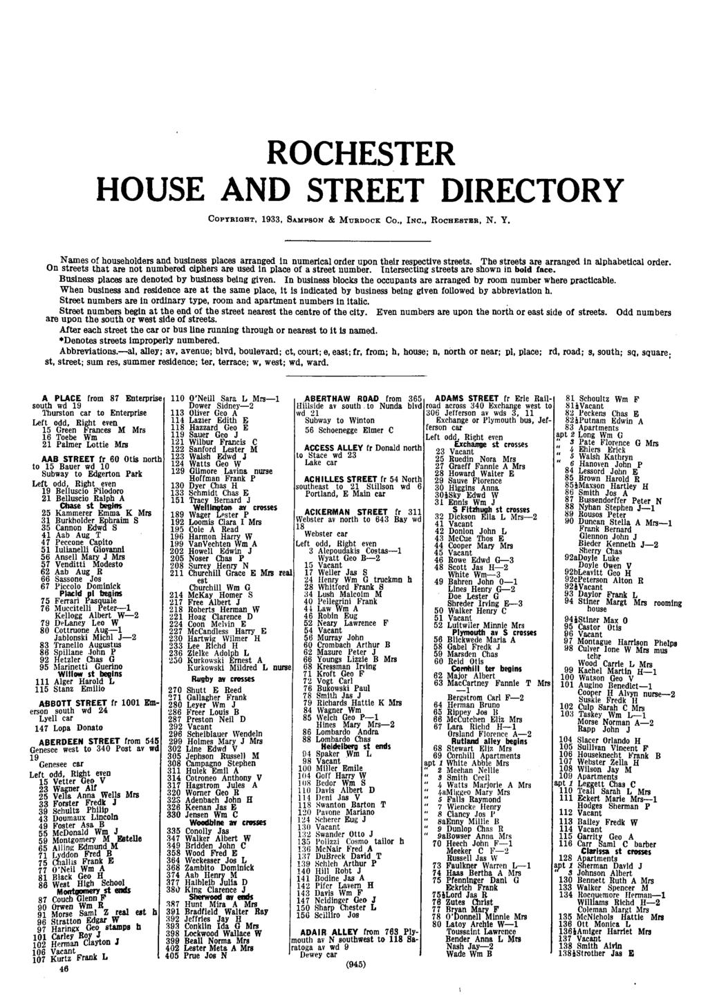 Central Library of Rocester and Monroe County - City Directory Collection -  1934   ROCHESTER HOUSE ed1645b566cd7