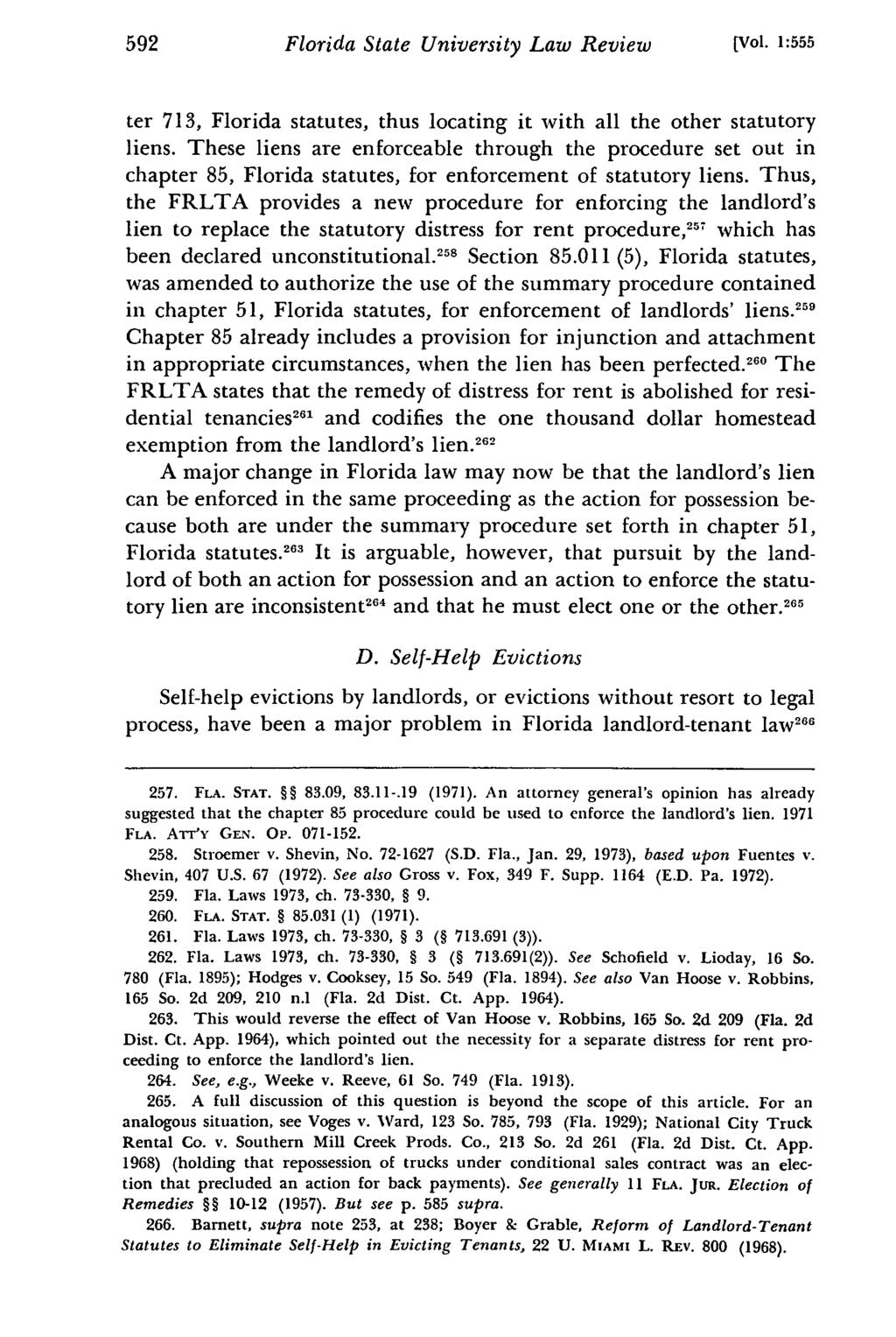 The Florida Residential Landlord and Tenant Act - PDF
