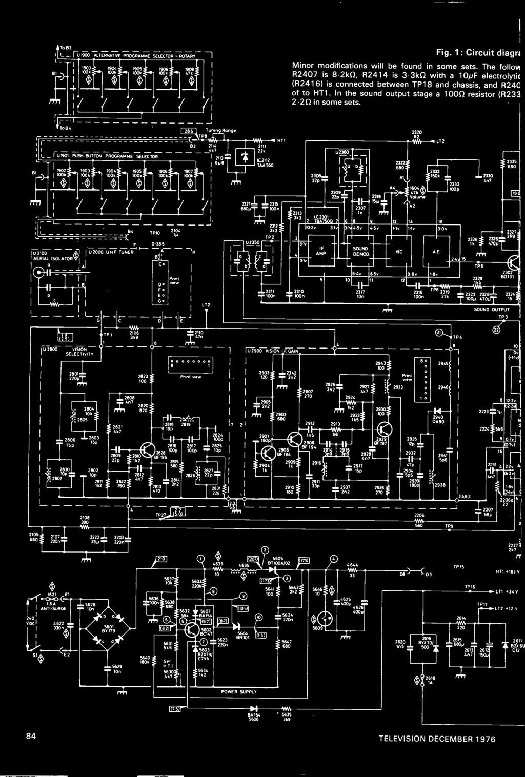 Iell 45p December 1976 Mentsminiature Vhf Aerials Speaker Protection Circuit 2pcb Schematic Delay 1 To B3 4 Fu1900 Alternative Programme Selector Rotary 1903s 1904 1905s