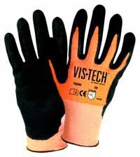 Sandy Nitrile FlexTech by Wells Lamont Industrial I2459M Protection Gloves High-Performance Fiber and Stainless Steel Work Gloves Pack of 6 Pairs