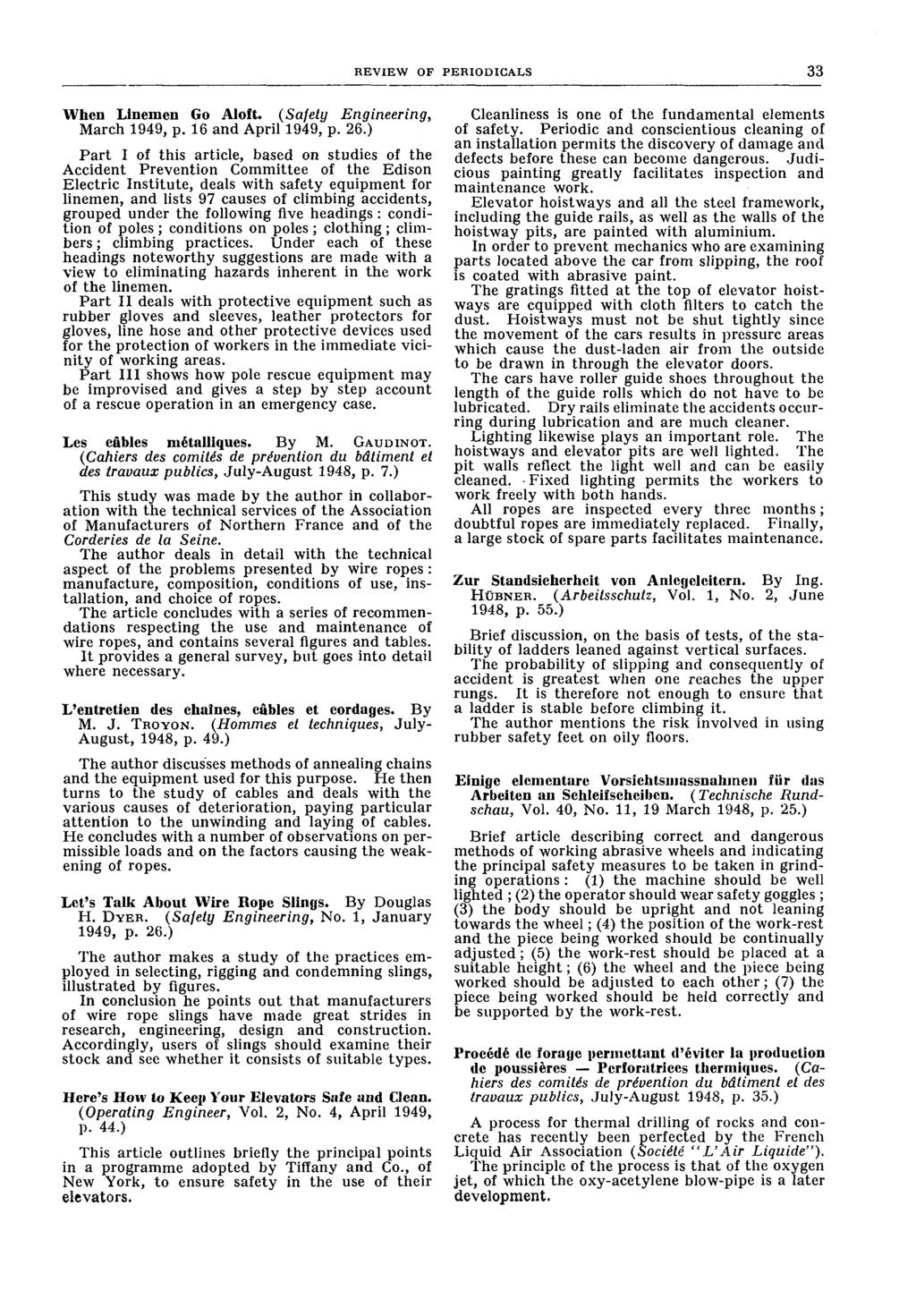 Industrial Safety Survey Pdf Australia Threewire Power Cord Saa Cable Threecore New Review Of Periodicals 33 When Linemen Go Aloft Engineering March 949