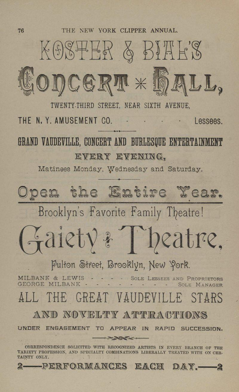 THE NEAV YORK CLIPPER ANNUAL CONTAINING THEATKICAL MUSICAL