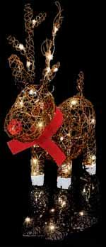 CHRISTMAS LIGHTS 80cm LED Resin Standing Deer Suitable for indoor and outdoor use 60 Warm White