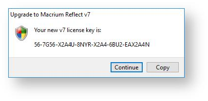 macrium reflect enter license key
