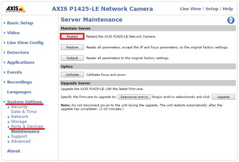 Axis Camera with VaxALPR On Camera software: Setup and configuration
