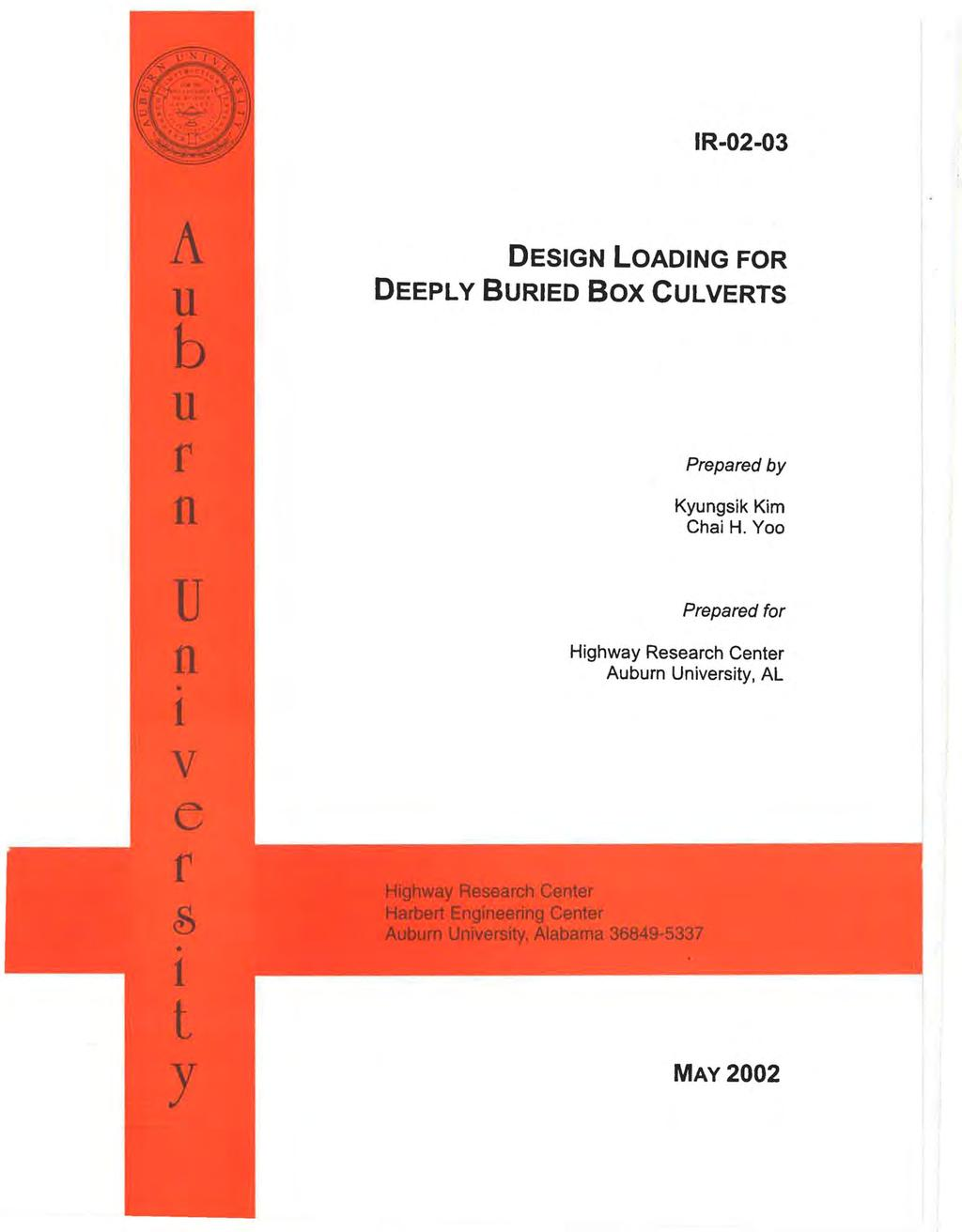 DESIGN LOADING FOR DEEPLY BURIED Box CULVERTS - PDF