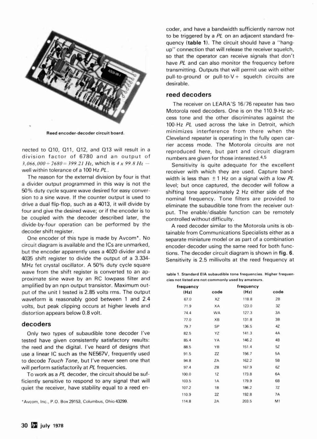 Radio Ham Magazine July 1978 J Antenna 74 Variable Power Supply 36 Beam Circuits Quad Opamp Walker Reed Encoder Decoder Circuit Board Nected To 010 011 Q12 And