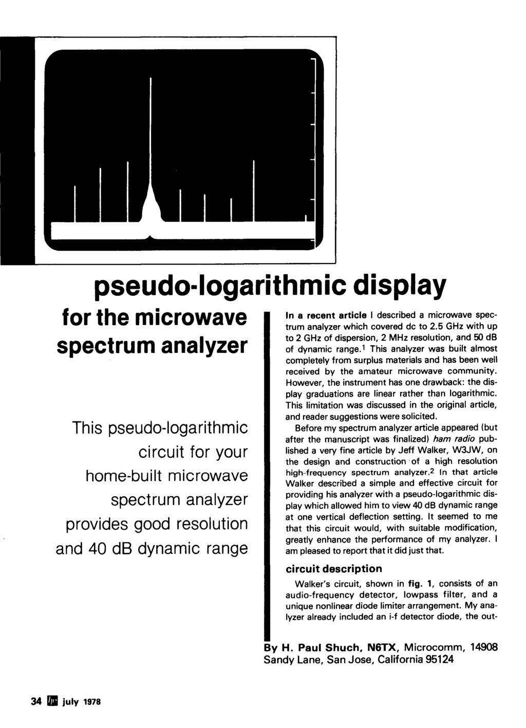 Radio Ham Magazine July 1978 J Antenna 74 Variable Power Supply 36 The Wideband Voltage Controlled Oscillator Circuit Composed Of Cd4046 Pseudo Logarithmic Display For Microwave Spectrum Analyzer This