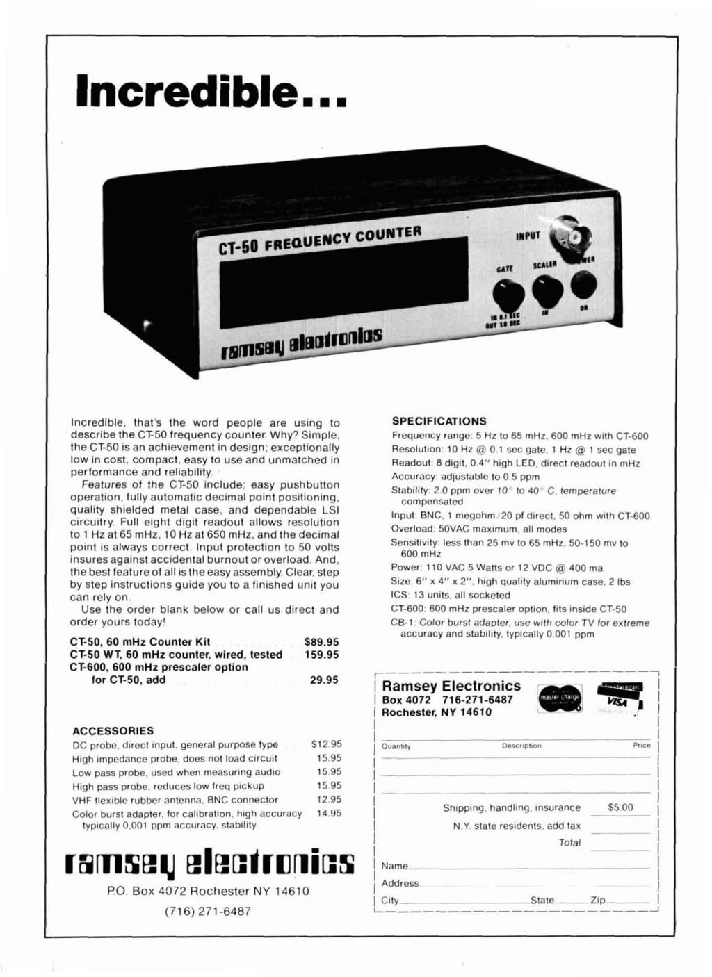Radio Ham Magazine July 1978 J Antenna 74 Variable Power Supply 36 Lm741 Simple Dc Amplifier Can Be Added To Afc Circuit Of Fm Tuner Ncredible Thats The Word People Are Using Describe Cf50