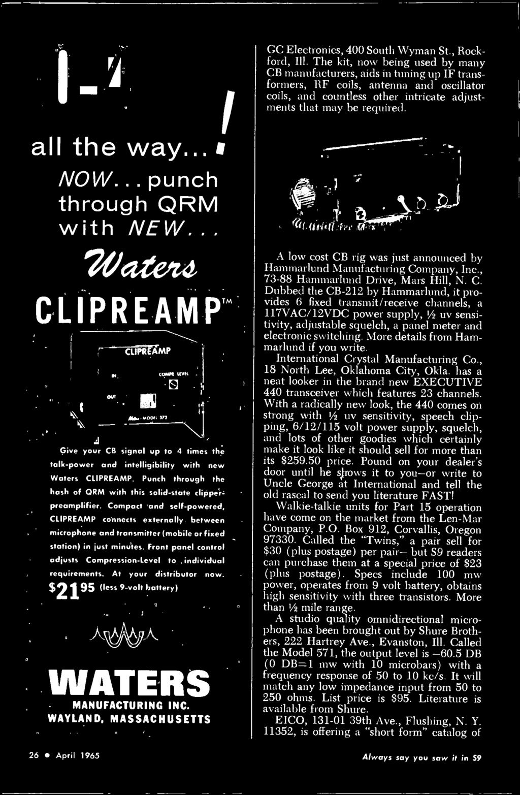 c7f6db4b156 he OFFICIAL CB RADIO MAGAZIN the citizens band journal FLASH! FCC ...