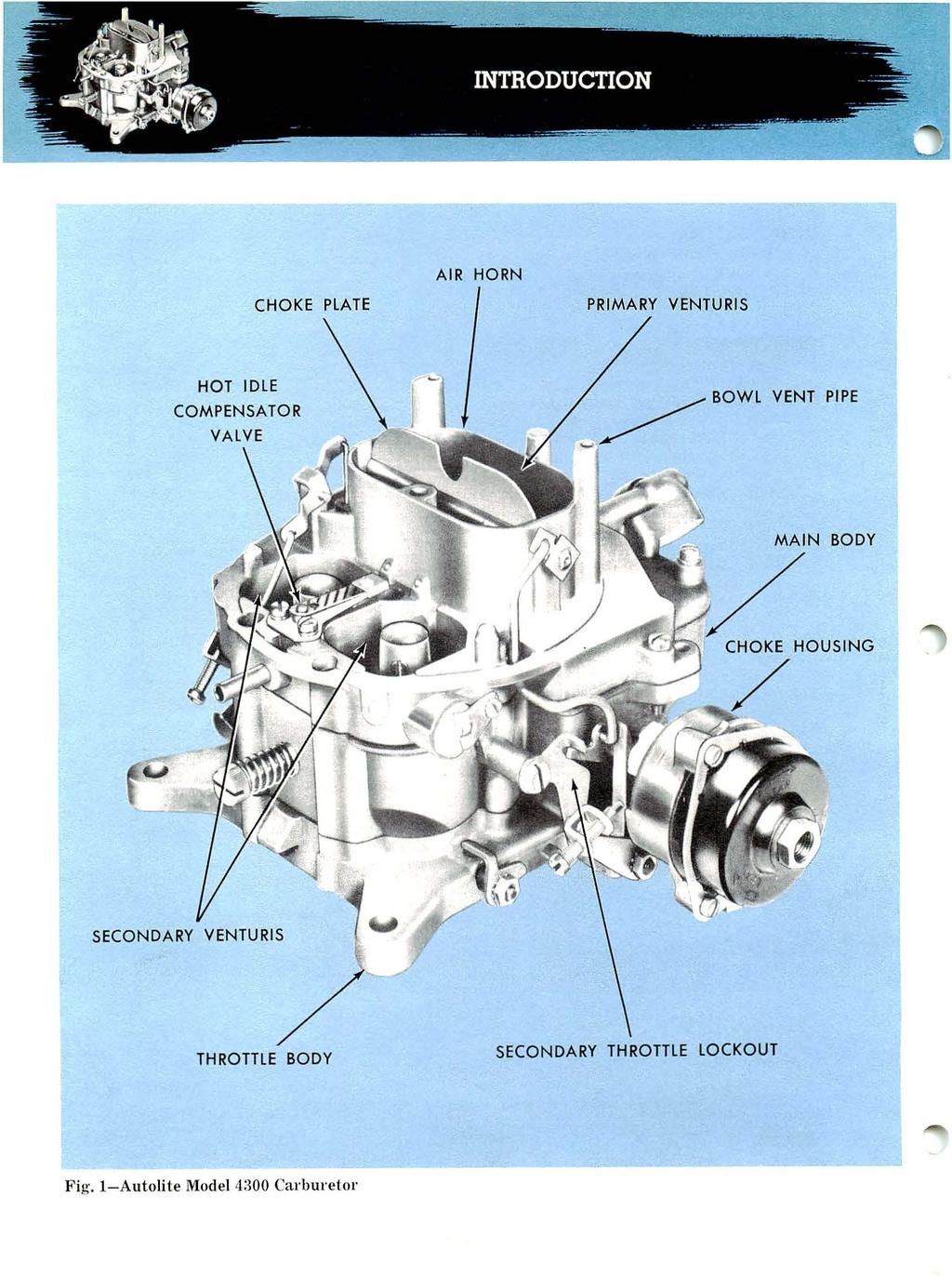 Governor Linkage Diagrams Besides Briggs Stratton Carburetor Diagram Autolite Model Operation Adjustment Ejd And Overhaul Air Horn Choke Plate Primary Venturis Hot Idle Compensator Body Secondary