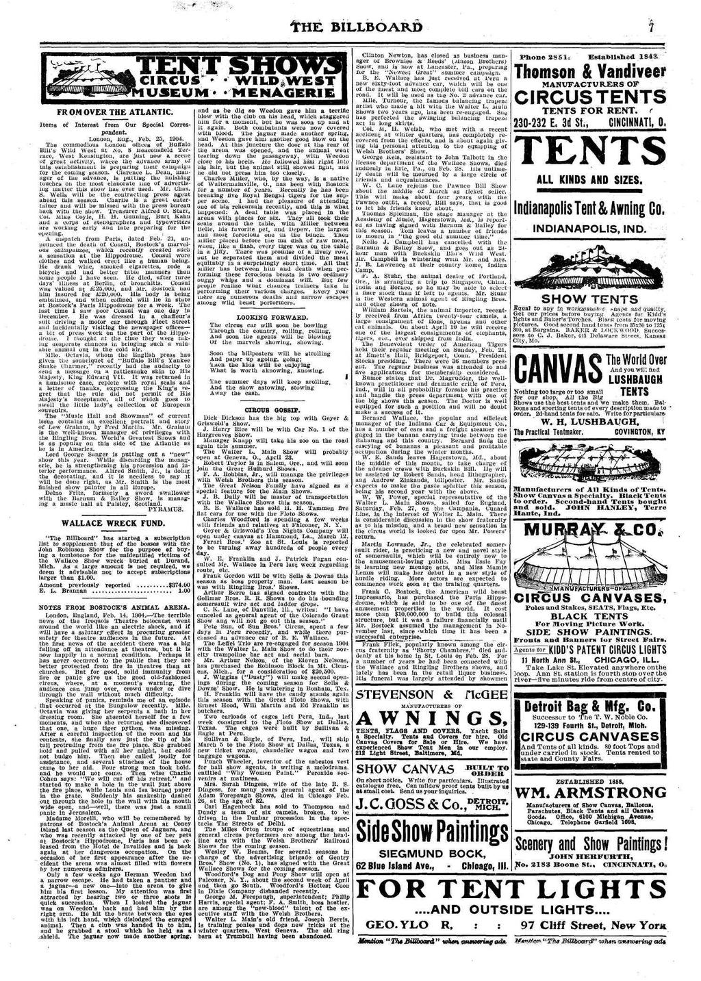 the billboard volume xvi no 11 cincinnati, march pdffr om over the atlantic circus * useum* items of interest from our special