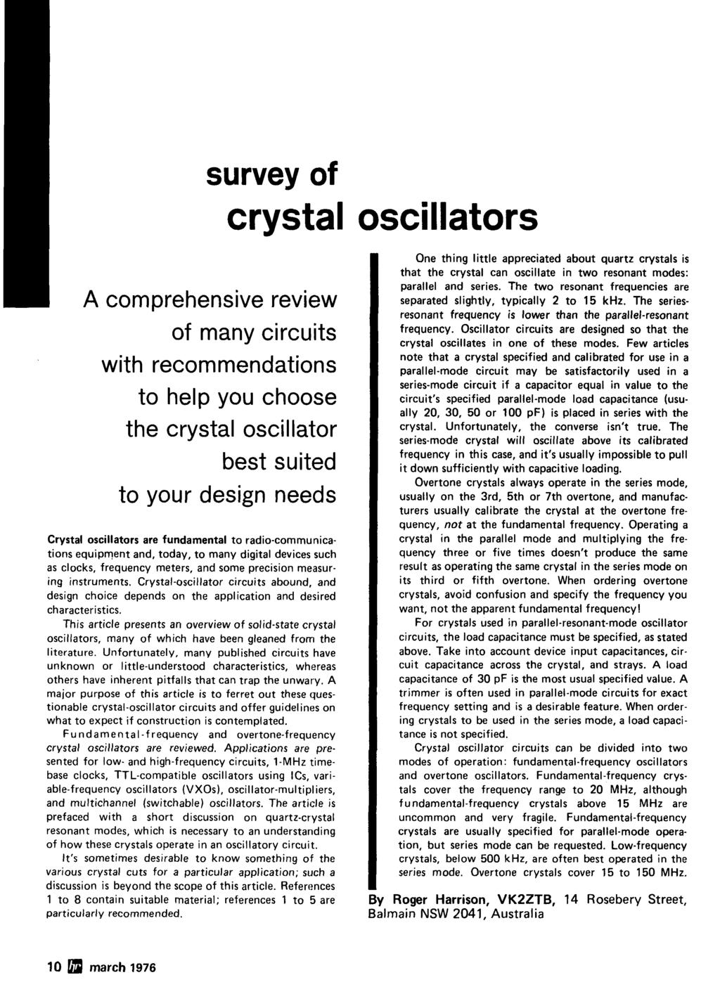 Radio P Crystal Oscillators Improving Vhfluhf Receivers 44 March Fairchildsemi Com Ds 2n 2n3904 Pdf Below Is A Sample Circuit Survey Of Comprehensive Review Many Circuits With Recommendations To Help You Choose The