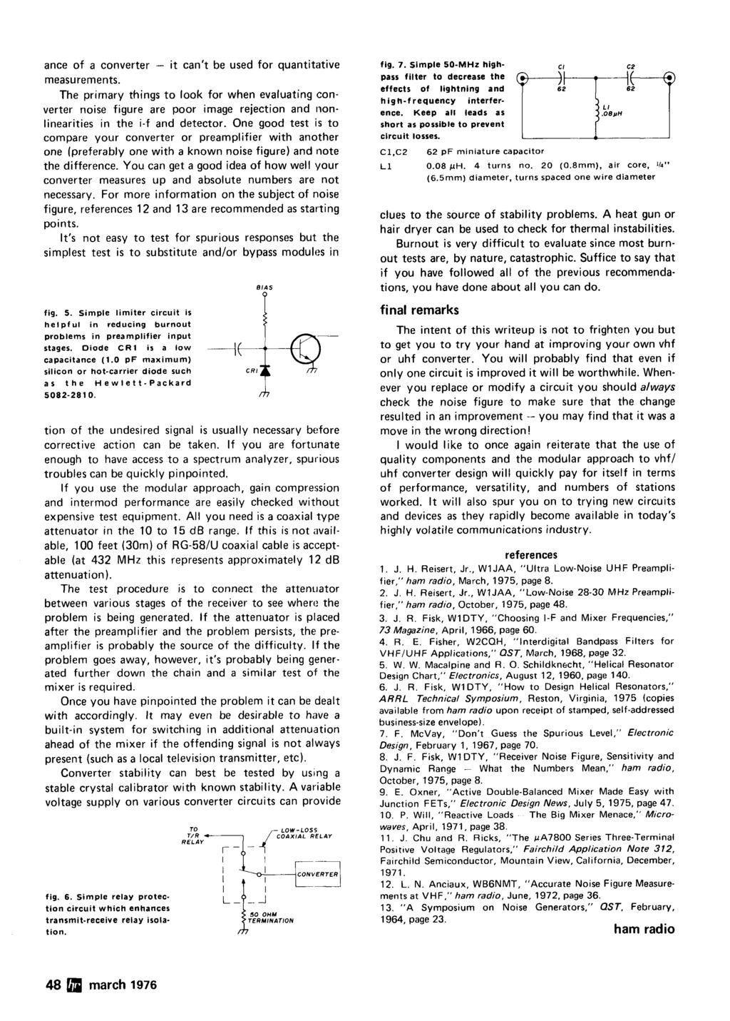 Radio P Crystal Oscillators Improving Vhfluhf Receivers 44 March Water Activated Relay Uses Transistor Bc108 Simple Schematic Diagram Ance Of A Converter It Cant Be Used For Quantitative Measurements
