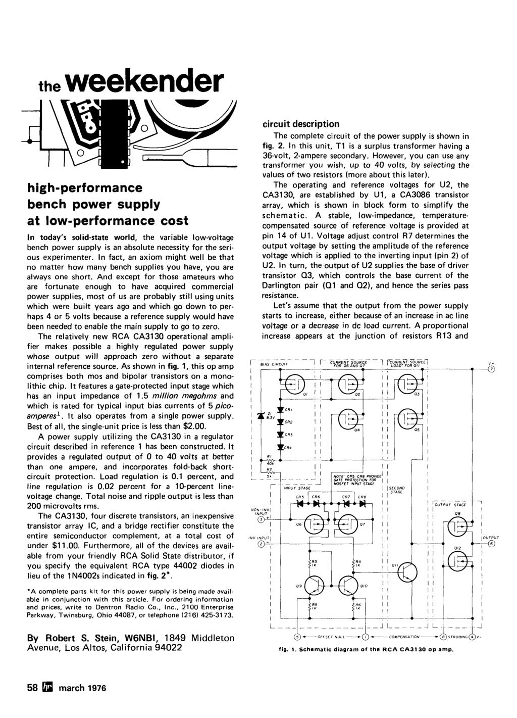 Radio P Crystal Oscillators Improving Vhfluhf Receivers 44 March Op Amp Opamps In A Loop Electrical Engineering Stack Exchange The Weekender Highperformance Bench Power Supply At Lowperformance Cost N Todays Solidstate World Variable