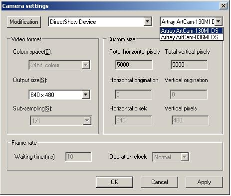 Artray Camera 036MI DS Driver for Windows Download