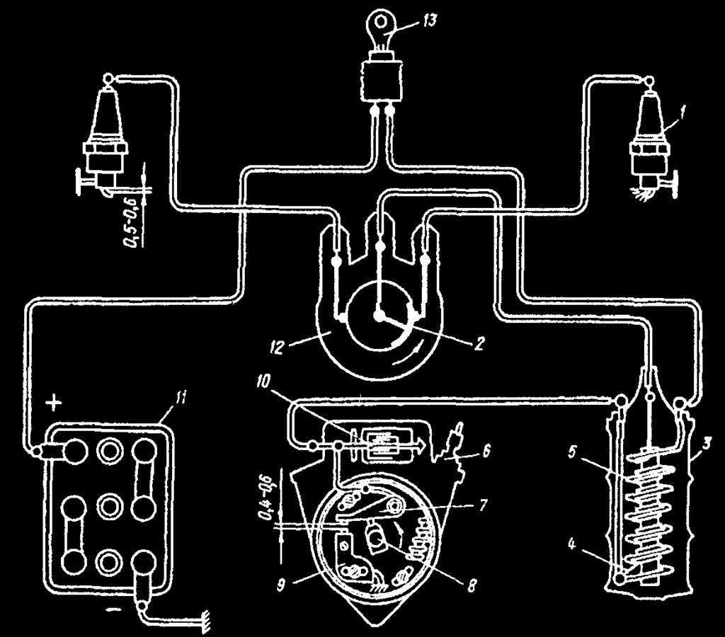 Ignition Systems Russian Motorcycles Pdf Dnepr Voltage Regulator Wiring Diagram System Of Early Urals And Dneprs 1 Spark Candle Plug 2
