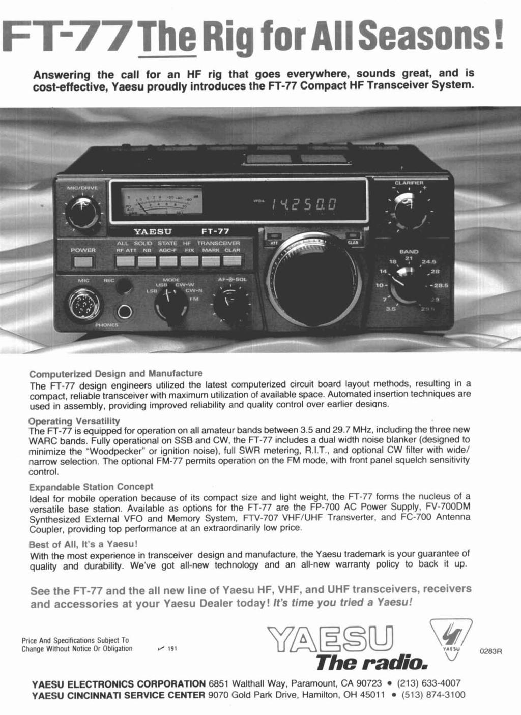 Short Verticals Vertical Phased Arrays Smart Squelch Harmonic Light Laser Led Gt Circuits Running Message Board Cd4017 Answering The Call For An Hf Rig That Goes Everywhere Sounds Great And Is