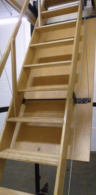 3m Counterbalanced Coil Spring Isted Mechanism And Fixed 57 Angle Climb Available In Two Widths 480mm 9 Timber Ladders