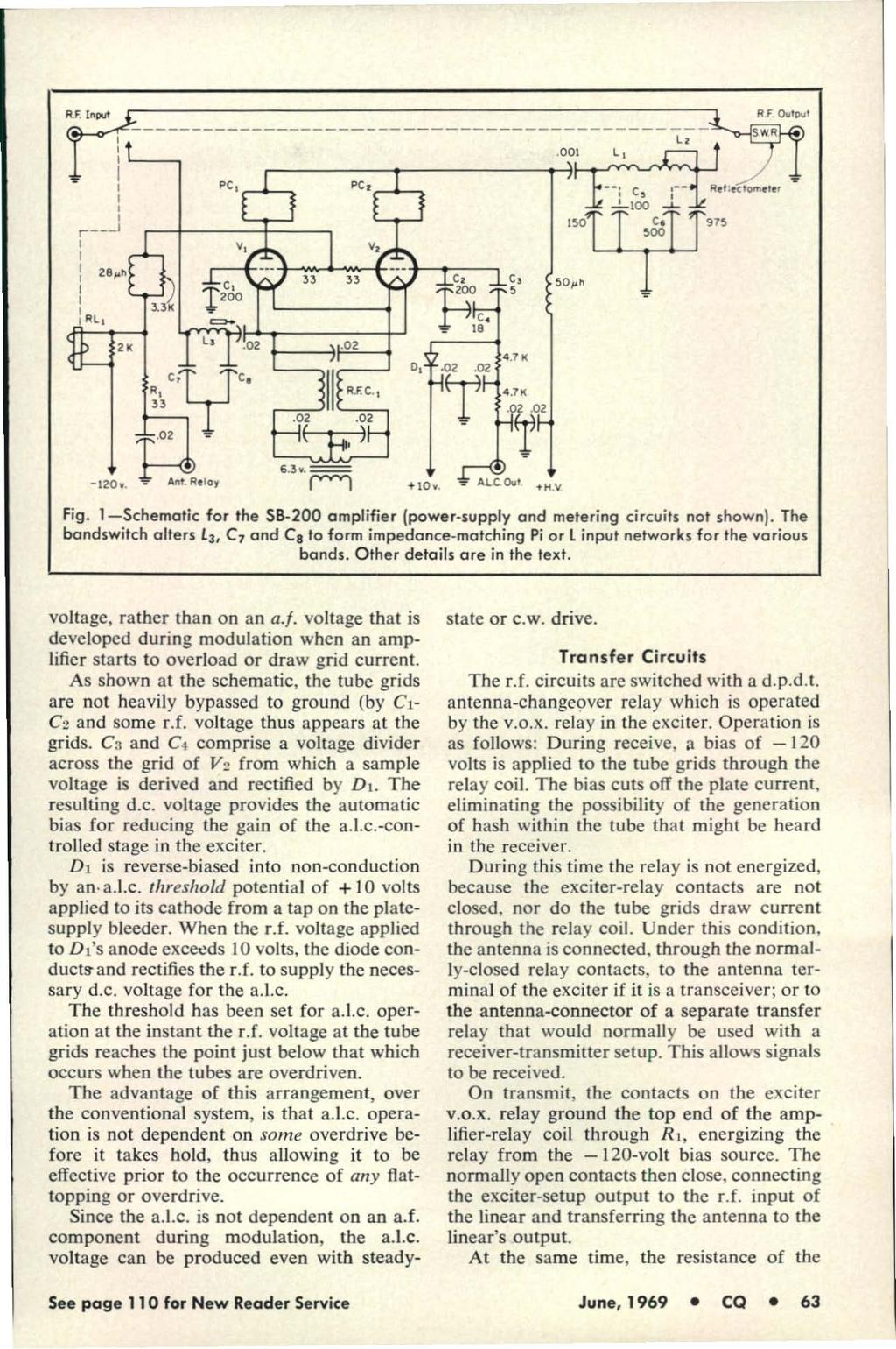Cq Reviews The Heathkit Sb 200 Linear Amplifier Pdf Irs2092 Class D Circuit Lm1036 Tone Controlled Audio 2 L R J I 28 T Rl