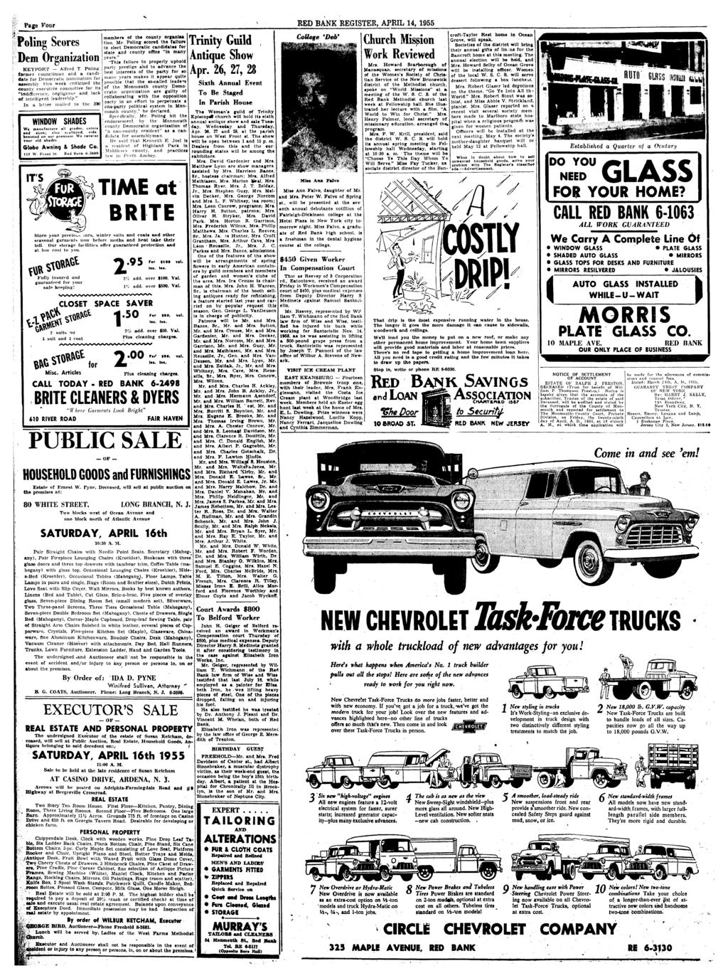 Red Bank Register For All Depa Pdf Prestige Electric Electrician Electrical Contractor Orlando Fl Page Four April 14 1955 Poling Scores Dem Organization Keyport Alfred